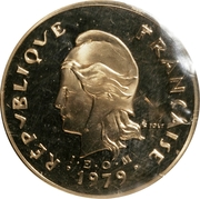 100 Francs (Nickel-bronze Piedfort) – obverse