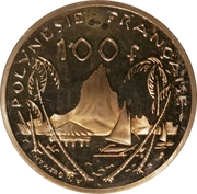 100 Francs (Nickel-bronze Piedfort) – reverse
