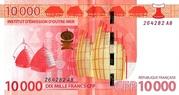 10,000 Francs CFP – reverse