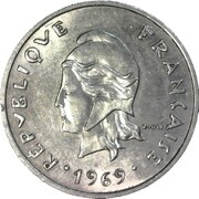 20 Francs (without IEOM) – obverse