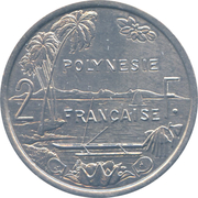 2 Francs (with IEOM) – reverse