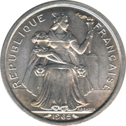 2 Francs (without IEOM) – obverse