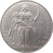 5 Francs (with IEOM) – obverse