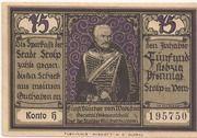 75 Pfennig (Stolp) – reverse