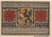 50 Pfennig (Neustettin) – obverse