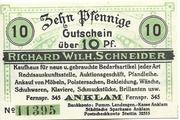 10 Pfennig (Anklam; Richard Wilh. Schneider) – obverse