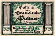 75 Pfennig (Putbus auf Rügen) – obverse