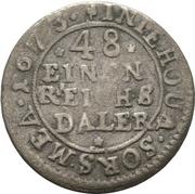 1/48 Thaler - Karl XI. – reverse