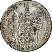 1 Thaler - Carl X Gustaf (Swedish occupation) – reverse