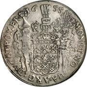 1 Thaler - Carl X Gustaf (Swedish occupation) – reverse