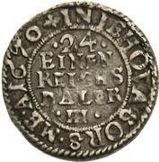 1/24 Thaler - Karl XI – reverse