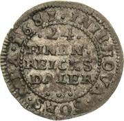 1/24 Thaler - Karl XI. – reverse