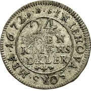 1/24 Thaler - Karl XI. -  reverse