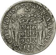 ⅓ Thaler - Karl XI. – reverse