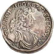 ⅔ Thaler - Karl XI. – obverse