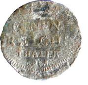 1/24 Thaler - Adolf Fredrik – reverse