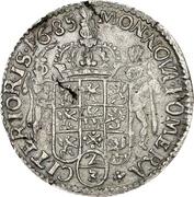 ⅔ Thaler - Karl XI. – reverse