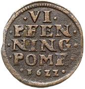6 Pfennig - Philipp Julius III. – reverse