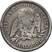 ½ Dollar (Counterstamped) – reverse