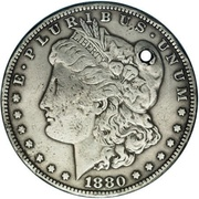 1 Dollar (Counterstamped) – obverse