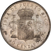40 Centavos -  reverse