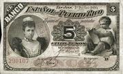 5 Pesos (Regent Queen Maria Cristina) – obverse