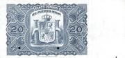 20 Pesos (Regent Queen Maria Cristina) – reverse
