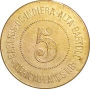 5 Almuds -  San Juan, Puerto Rico – reverse