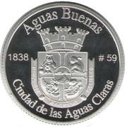 1 Peseta (Aguas Buenas) – reverse
