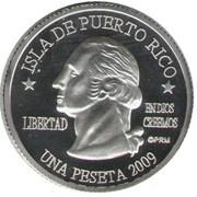 1 Peseta (Aibonito) – obverse