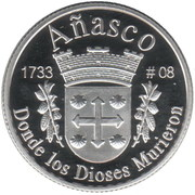 1 Peseta (Añasco) – reverse