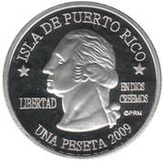 1 Peseta (Arecibo) – obverse