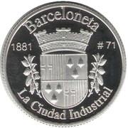 1 Peseta (Barceloneta) – reverse