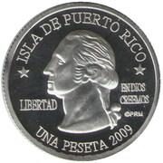 1 Peseta (Barranquitas) – obverse