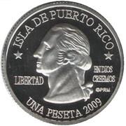 1 Peseta (Cabo Rojo) – obverse