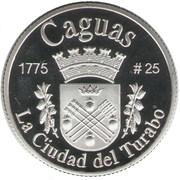 1 Peseta (Caguas) – reverse