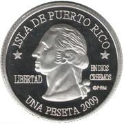 1 Peseta (Carolina) – obverse