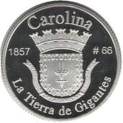 1 Peseta (Carolina) – reverse