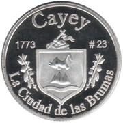 1 Peseta (Cayey) – reverse