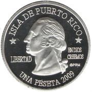 1 Peseta (Ceiba) – obverse