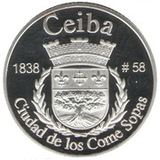 1 Peseta (Ceiba) – reverse