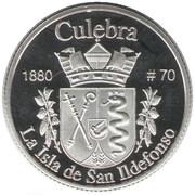 1 Peseta (Culebra) – reverse