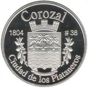 1 Peseta (Corozal) – reverse