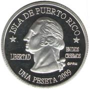 1 Peseta (Guánica) – obverse