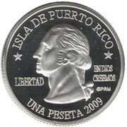 1 Peseta (Guayanilla) – obverse