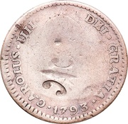 1/8 Dollar (Counterstamped) – obverse