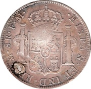 1 Dollar (Counterstamped) – reverse