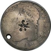 ½ Dollar (Counterstamped) – obverse