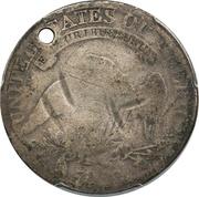 ½ Dollar (Counterstamped) – reverse
