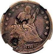 ¼ Dollar (Counterstamped) – obverse